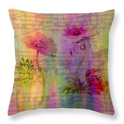 Flowers Throw Pillow featuring the photograph Music In The Air by Judy Palkimas