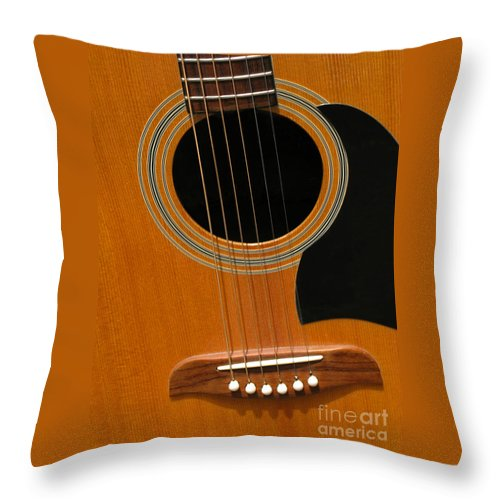 Guitar Throw Pillow featuring the photograph Musical Abstraction by Ann Horn