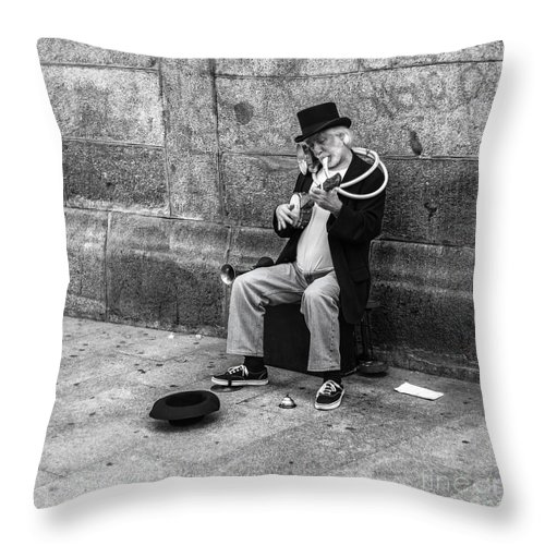 Throw Pillow featuring the photograph Musicman by Eugenio Moya