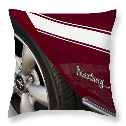 1968 Mustang Throw Pillow featuring the photograph Mustang by Dennis Hedberg