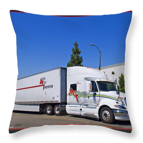 Mesilla Valley Transportation Throw Pillow featuring the photograph Mvt #7 by Walter Herrit