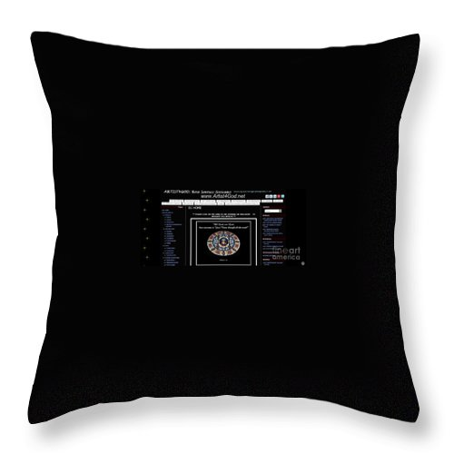 Artist4god Throw Pillow featuring the photograph My Artist4god Website by Rose Santuci-Sofranko