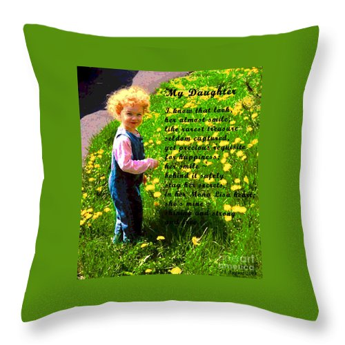 Poetry Throw Pillow featuring the digital art My Daughter by Alys Caviness-Gober