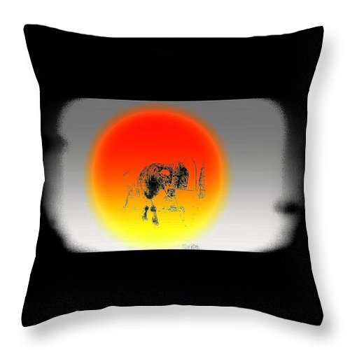 Pony Throw Pillow featuring the photograph I Miss My Dearest Little Pony Mare Who Used To Follow Me Everywhere by Hilde Widerberg