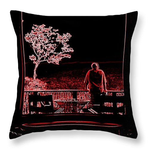 Red Throw Pillow featuring the photograph My Dreamer by Karen Wiles