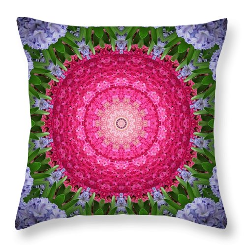Abstract Throw Pillow featuring the digital art My Effect 10 by Michael Anthony