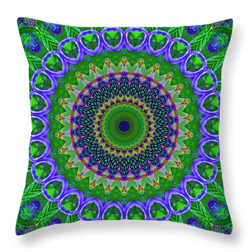 Abstract Throw Pillow featuring the digital art My Effect 4 by Michael Anthony