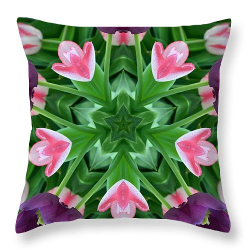 Abstract Throw Pillow featuring the digital art My Effect 8 by Michael Anthony