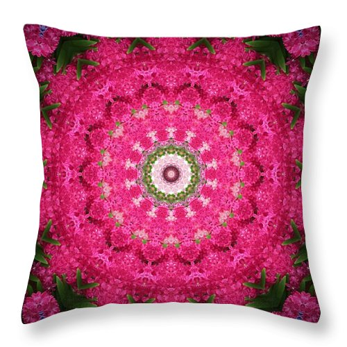 Abstract Throw Pillow featuring the digital art My Effects 11 by Michael Anthony