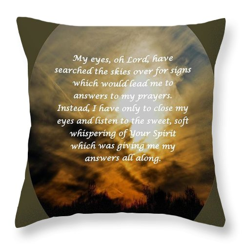 My Eyes Oh Lord Throw Pillow featuring the digital art My Eyes Oh Lord by Maria Urso