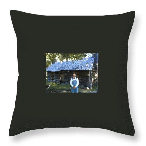 Farmer Throw Pillow featuring the photograph My Favorite Farmer by Diannah Lynch