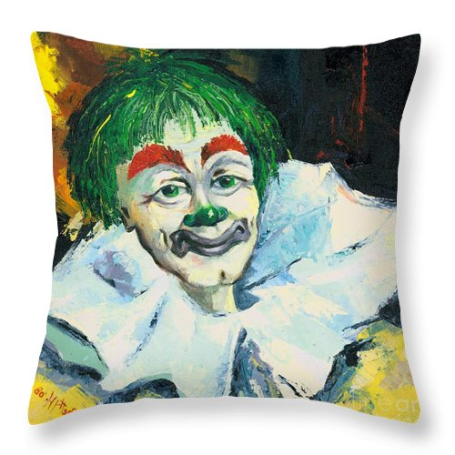 Canvas Prints Throw Pillow featuring the painting My Friend by Elisabeta Hermann