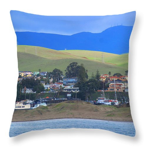 Morro Bay Throw Pillow featuring the photograph My Hometown by Kris Hiemstra