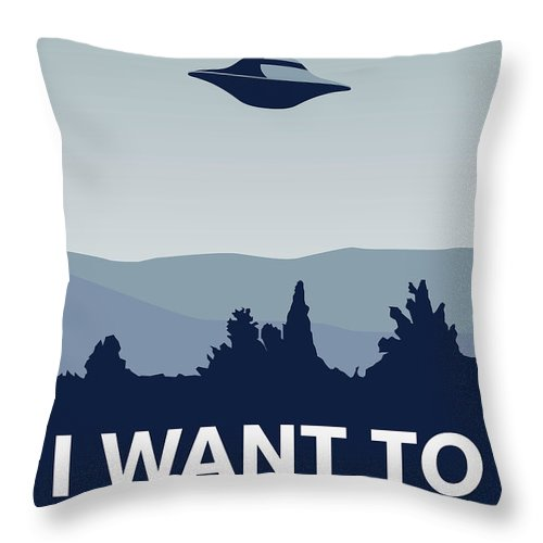 Classic Throw Pillow featuring the digital art My I Want To Believe Minimal Poster-xfiles by Chungkong Art