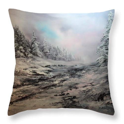 Cannock Chase Throw Pillow featuring the painting My Idea Of Heaven by Jean Walker