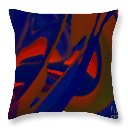 Jung Throw Pillow featuring the digital art My Shadow by Tom Hubbard