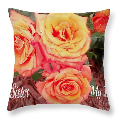 Sister Throw Pillow featuring the photograph My Sister My Friend by Gail Matthews