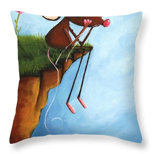 Lucia Stewart Throw Pillow featuring the painting My Sunny Day by Lucia Stewart