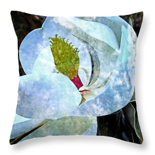 Flower Throw Pillow featuring the photograph My Sweet Magnolia by Ella Kaye Dickey