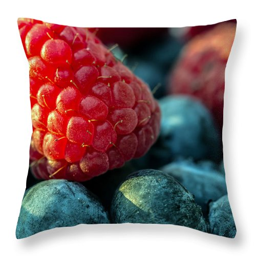 Vitamin Throw Pillow featuring the photograph My Very Berry by Eti Reid