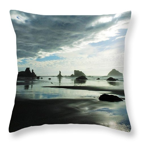 Pacific Ocean Throw Pillow featuring the photograph Mystery by Becky Thompson