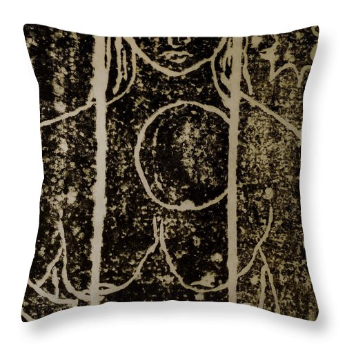 Woman Throw Pillow featuring the painting Mystery Lady by Erika Chamberlin
