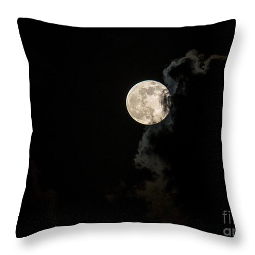 Moon Throw Pillow featuring the photograph Mystery Moon by Rene Triay Photography