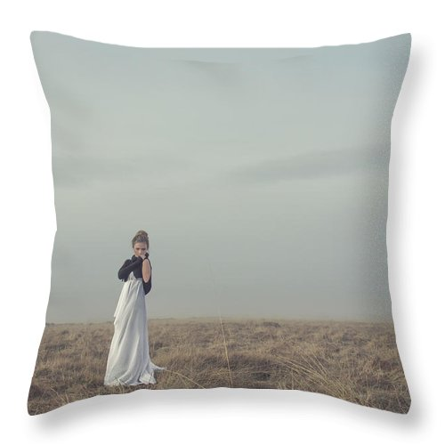 Alone Throw Pillow featuring the photograph Mystic And Divine by Evelina Kremsdorf