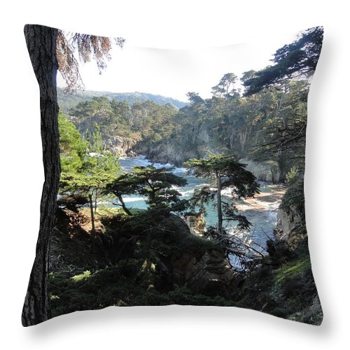 Mystic Throw Pillow featuring the photograph Mystic Bridge by Shannon Grissom