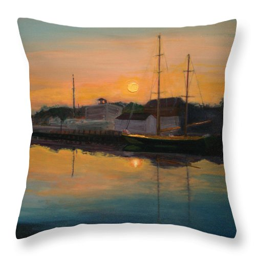 Pajaro Jai Throw Pillow featuring the painting Mystic Morning by Jill Nichols