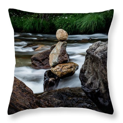 River Throw Pillow featuring the photograph Mystic River S2 Viii by Marco Oliveira