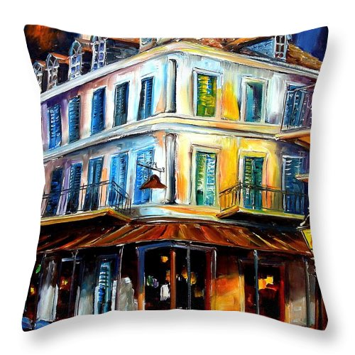 New Orleans Throw Pillow featuring the painting Napoleon House by Diane Millsap