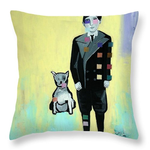 Surreal Throw Pillow featuring the painting Napoleon by Venus