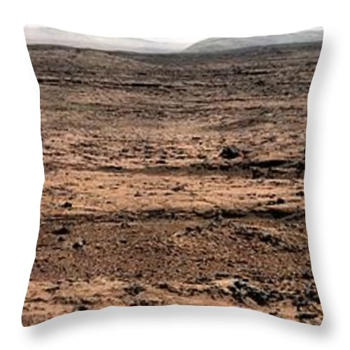 Mars Rover Throw Pillow featuring the photograph Nasa Mars Panorama From The Mars Rover by Rose Santuci-Sofranko