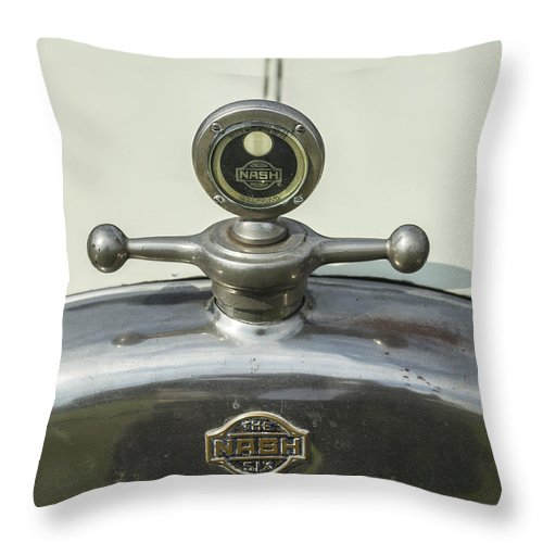 Glenmoor Throw Pillow featuring the photograph Nash Six by Jack R Perry