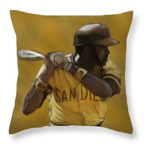 Nate Colbert Throw Pillow featuring the digital art Nate Colbert by Jeremy Nash