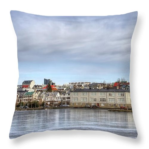 Reykjavik Throw Pillow featuring the photograph Native Harmony by Evelina Kremsdorf