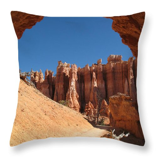Arch Throw Pillow featuring the photograph Natural Archway - Bryce Canyon by Christiane Schulze Art And Photography