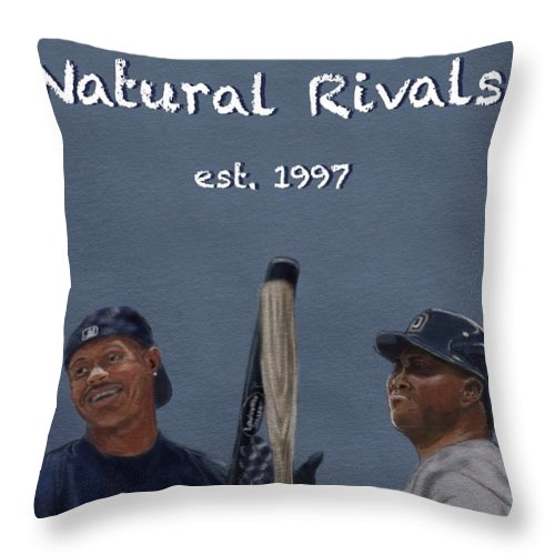 Tony Gwynn Throw Pillow featuring the digital art Natural Rivals by Jeremy Nash