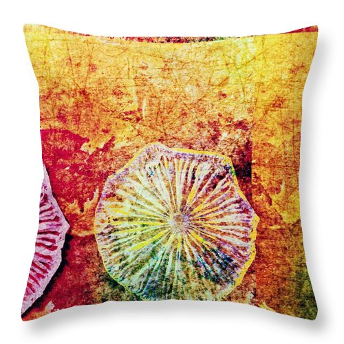Nature Abstract Throw Pillow featuring the digital art Nature Abstract 44 by Maria Huntley