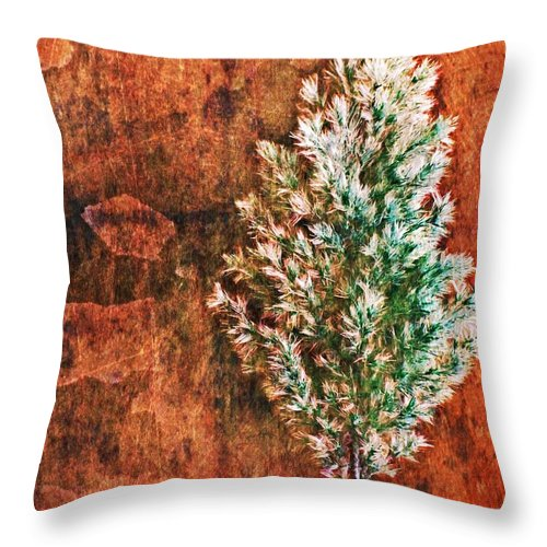 Nature Abstract Throw Pillow featuring the digital art Nature Abstract 48 by Maria Huntley
