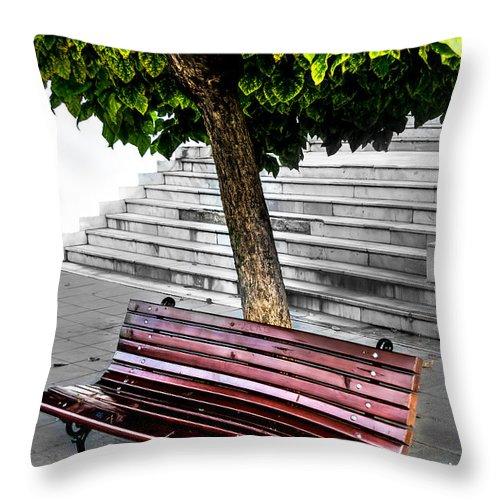 Garden Throw Pillow featuring the photograph Nature Among Us by Sotiris Filippou