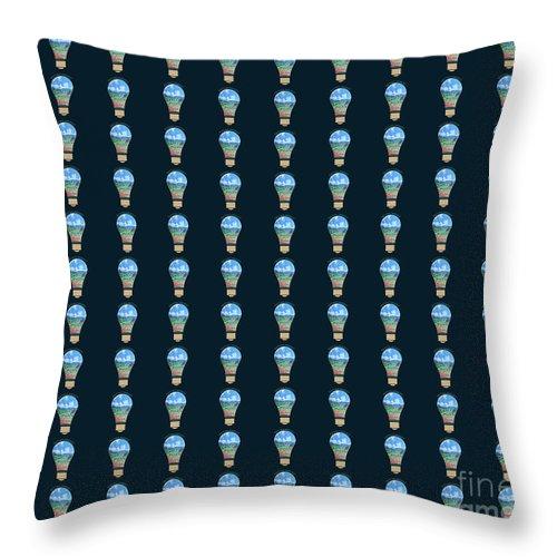 Decoration Throw Pillow featuring the digital art Nature Energy by Artist Nandika Dutt