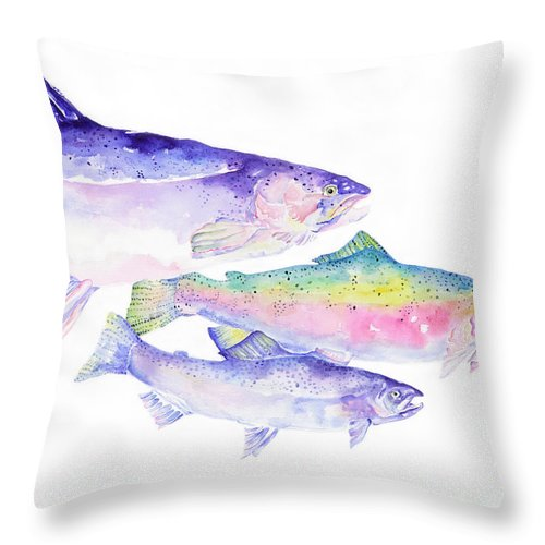 Pat Saunders-white Canvas Prints Throw Pillow featuring the painting Natures Artwork by Pat Saunders-White
