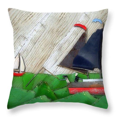 Sailboats Throw Pillow featuring the photograph Natures Elements Art-1 by Nina Bradica