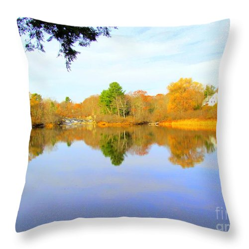 Royal River Throw Pillow featuring the photograph Nature's Finest by Elizabeth Dow