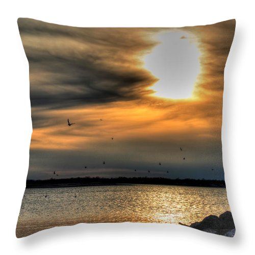 Water Throw Pillow featuring the photograph Natures Melody by Michael Frank Jr