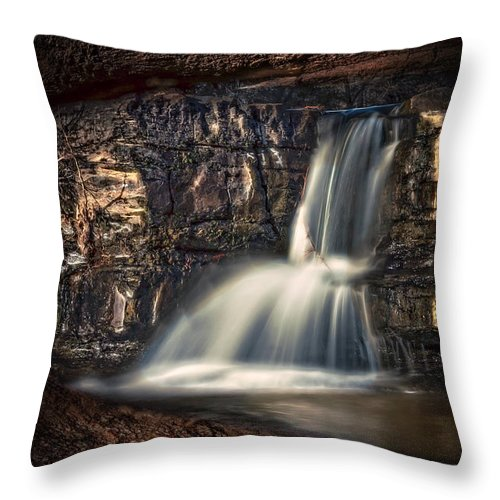 Waterfall Throw Pillow featuring the photograph Natures Window by Larry McMahon