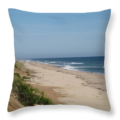 Seascape Throw Pillow featuring the photograph Nauset Beach Orleans Ma by Barbara McDevitt