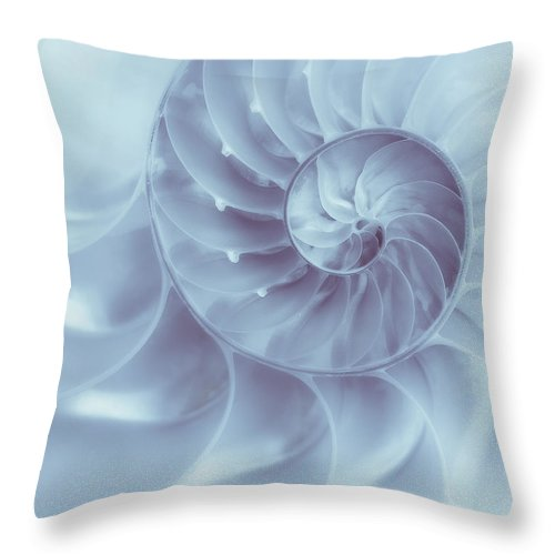 Nautilus Throw Pillow featuring the photograph Nautilus - Dreaming Of The Sea by Tom Mc Nemar